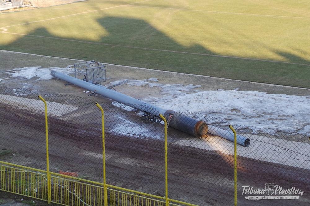 """Photo of Ремонт на стадион """"Христо Ботев"""" 20 декември 2013"""