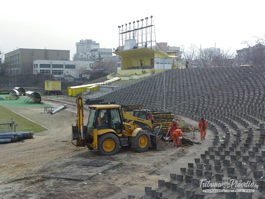 "Photo of Строеж на стадион ""Христо Ботев"" 02.01.2014"